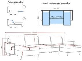 Veľká rozkladacia sedacia súprava ETNA III