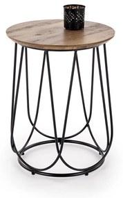 HALMAR Nubira S okrúhly konferenčný stolík orech / čierna
