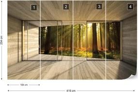 Fototapeta GLIX - Sunrise Forest 3D  + lepidlo ZADARMO Vliesová tapeta  - 416x254 cm