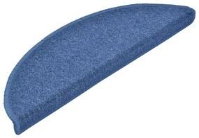 vidaXL 15 ks Nášľapy na schody modré 56x17x3 cm