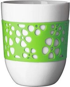 QDO Sada 2 porcelánových termohrnčekov Silly zelená