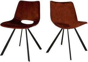 Dizajnová stolička Izabella / velúr medená