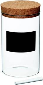 Dóza s tabuľovým štítkom Kitchen Craft Natural Elements, výška 18 cm