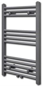 vidaXL Rebríkový radiátor na centrálne vykurovanie, rovný 500 x 764 mm, šedý