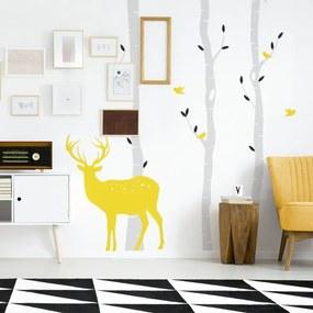 lovel.sk Nálepky na stenu Deer - brezy