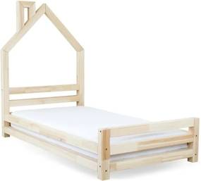 Detská posteľ z prírodného smrekového dreva Benlemi Wally, 90 × 200 cm