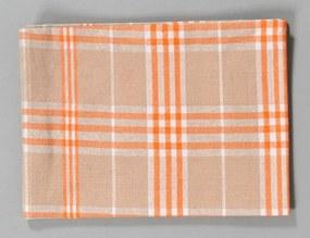 Dobrý Textil Kuchynská bavlnená utierka TINA - Oranžová