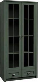 TEMPO KONDELA Provance W2S vitrína zelená