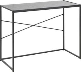 Bighome - Písací stôl SEAFORD 100 cm, sivá