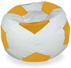 Sedací vak Futbal žltý - XL