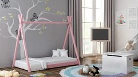 Detská posteľ Teepee 160x80 ružová