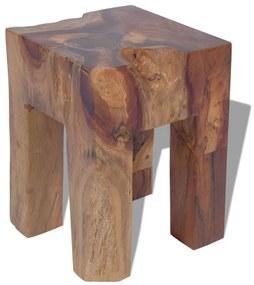 Taburetka z masívneho teakového dreva, 30x30x40 cm