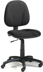 Kancelárska stolička DOVER s nízkym operadlom, čierna / čierna