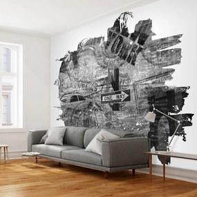 Fototapeta - Čierna a biela koláž v New Yorku 200x154 + zadarmo lepidlo
