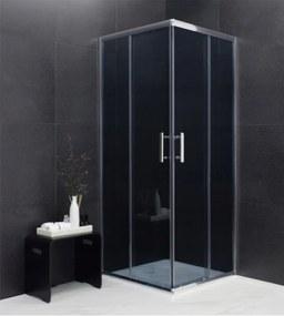 MEXEN RIO - Štvorcový sprchovací kút 80x80 cm, šedá, 860-080-080-01-40