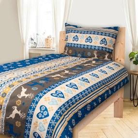 HOD Obliečky SOBY tmavá modrá Bavlna 70x90 140x200 cm
