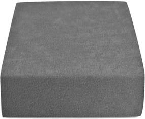 Froté plachta tmavo sivá 90x200 cm Gramáž: Lux (190 g/m2)
