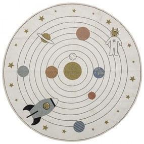 Bloomingville Bavlnený koberec Space Beige