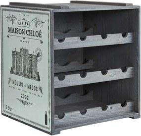Butlers VINOTHEK Regál na víno - modrá
