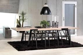Luxusný jedálenský stôl Zora 290 -410 cm biela/čierna
