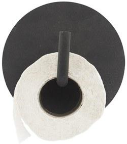 House Doctor Kovový držiak na toaletný papier Black