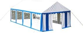 Krytie pre party stan horné a bočné panely 8x4m modro-biely
