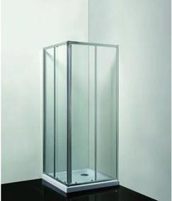HOPA - Sprchový kout Smart - RANDA - 190 cm, 80 cm × 80 cm, Univerzální, Hliník chrom, Čiré bezpečnostní sklo - 6 mm (OLBRAN80CCBV)
