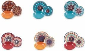 18-dielna sada farebného riadu z porcelánu a kameniny Villa d'Este Shiraz