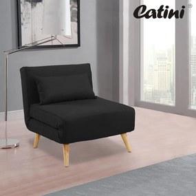 Rozkladacie multifunkčné kreslo - posteľ Catini ASTON - čierné
