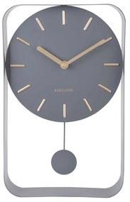 KARLSSON Nástenné hodiny Pendulum Charm šedé