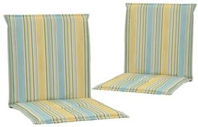 vidaXL Podložky na záhradné stoličky 2 ks viacfarebné 100x50x3 cm