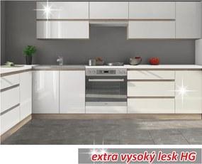 Kuchynská zostava 2,6m, biely vysoký lesk HG, LINE WHITE |KUMAXnabytok.sk