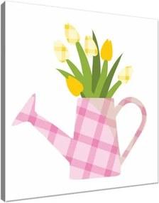 Obraz na plátne Krhla s kvetmi 30x30cm 4040A_1AI