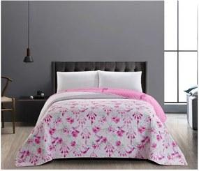 Obojstranný ružovo - biely pléd z mikrovlákna DecoKing Sweet Dreams, 240 × 260 cm