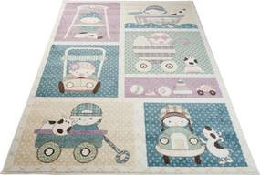 MAXMAX Detský koberec Happy - vozítko