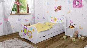 Detská postel DREAM biela 160x80 + úložný box až 37 motívov