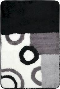 Kúpeľňová predložka Optima 90x60 cm čiernobiela PRED001