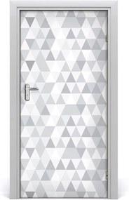 Fototapeta na dvere  šedé trojuholníky