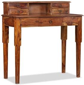 3ab75cb80e57 Písací stôl zo sheesamového dreva s 5 zásuvkami