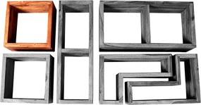 SIT MÖBEL Nástenná polica PANAMA 35 × 20 × 35 cm