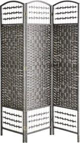 MADAM STOLTZ Drevený paraván Dark grey/Black 150 cm