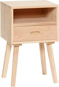 Odkladací stolík z dubového dreva so zásuvkou Hübsch Federikke