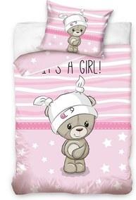 HOD Detské bavlnené obliečky BABY GIRL 100x135cm