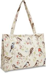 Nákupná taška na rameno z bavlny Cooksmart England Dawn Chorus, 40 x 30 cm