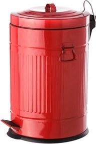 Červený kovový odpadkový kôš Unimasa, 20 l