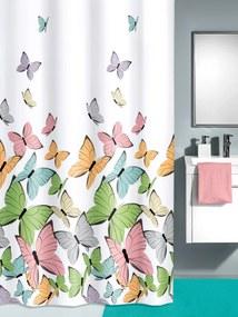 Sprchový záves Motýle Kleine Wolke multi