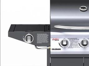 Plynový nerezový BBQ gril s bočným horákom Avenberg COLORADO