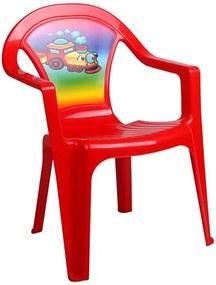 STAR PLUS Nezaradené Detský záhradný nábytok - Plastová stolička Červená |