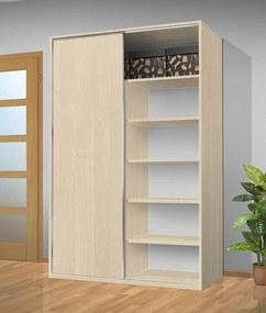 Šatníková skriňa s posuvnými dverami Alfa 33 farba lamina: breza 1715