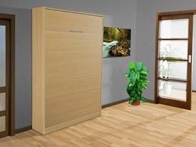 Nabytekmorava Sklápacia posteľ VS 3054 P - 200x120 cm nosnost postele: štandardná nosnosť, farba lamina: buk 381